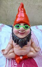 cement hand painted rude nude yoga garden gnome