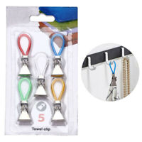 5PCS Towel Hanging Clips Dish Cloth Hanger Holder Home  Kitchen Bathroom Tools