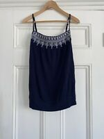 Monsoon Blue Strappy Vest Top Tee RRP £28.00 New With Tags UK 16