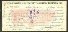 BILL OF EXCHANGE KANSAS CITY SMELTING & REFINING CO. MEXICO REVENUE STAMPS 1899!