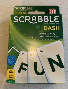 MATTEL - SCRABBLE DASH CARD GAME - PERFECT, SEALED CONDITION!