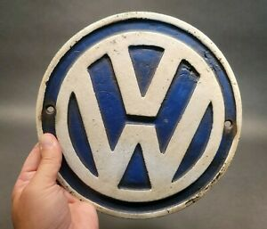 Vintage Antique Style Cast Iron VW Volkswagen Sign PLaque