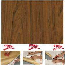 NEW DIY Kitchen Worktop Walnut Wood Vinyl Cover Self Adhesive Sticky Back Wrap