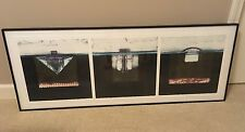 ENRICO EMBROLI Framed Triptych Monotype Medium Signed 44 Of 150 Tabloid 9,10, 11