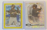 (2) CJ Abrams 2020 Bowman 1st Edition Refractor 11/75 Sterling Speckle 98/99