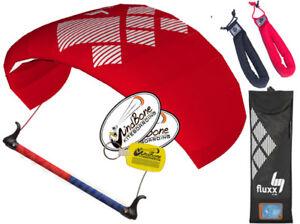 HQ4 HQ Fluxx 1.3 Symphony Trainer Kite Kiteboarding Control Bar + Padded Straps