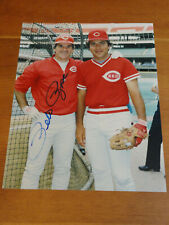 """Signed PETE ROSE 8""""x10"""" Photo Reds Phillies Autograph"""
