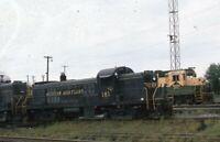 WESTERN MARYLAND Railroad Locomotive WM 181 READING Original 1975 Photo Slide