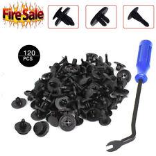 120x Car Body Plastic Push Pin Rivet Fasteners Trim Moulding Clip Screwdriver US