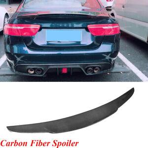Carbon Fiber M4 Style Rear Trunk Deck Lip Boot Spoiler Wing for Jaguar XE Fandixin XE Spoiler