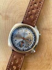 Vintage 1970s Seiko 6139-6022 Pulsation Chronograph Doctor's Watch w Silver Dial