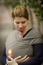 HANA Baby Wrap Sling Carrier Bamboo & Organic Cotton - Olive Grey Shorty (Khaki)