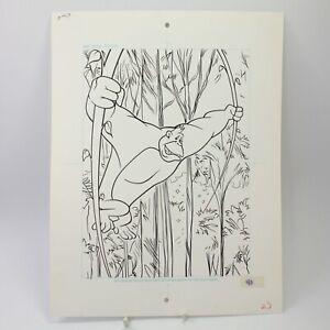 Ape original artwork book illustration pen & ink vintage cartoon #46