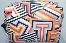 New Tory Burch Cosmetic Bag Abstract Printed Make Up Case Small Multi Sale Gift