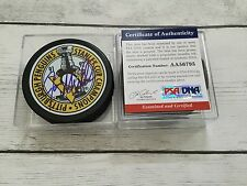 Joe Mullen Signed 91/92 Pittsburgh Penguins Stanley Cup Puck PSA DNA COA a
