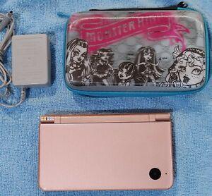 Nintendo DSi XL Metallic Rose Console UTL-001 w/4 Games, Case, Charger & Stylus