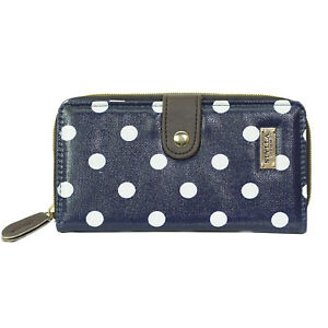 Oilcloth polka dots Women's Wallet with card holder and coin holding pocket