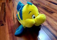 "Disney The Little Mermaid Flounder the Fish Plush Stuffed Toy 16"" XL VINTAGE"