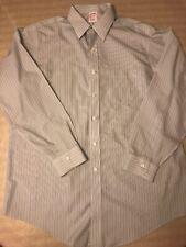 Brooks Brothers Mens Blue &Green Striped Button Down Non Iron Dress Shirt 16-34