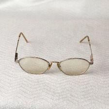 071c100498b5 Vintage Laura Ashley Faye Glasses Frames Rx Gold Silver Floral 140mm