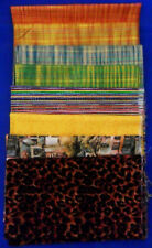 8 Pieces of FABRIC Quilting Sewing Cotton Leopard Print, Metallic Plaid Stripes