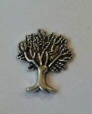 Silver Tone Tree Floating Charm for Living Locket fits Origami Owl