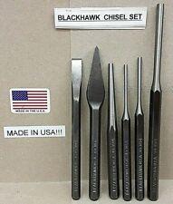 Blackhawk 6 Piece Chisel Punch Set OLD STOCK  USA 1003 1156 1404 1453 1454 1464