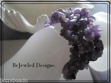 Amethyst Gemstone Cuff Bracelet ~Quality~