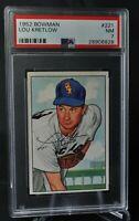 1952 Bowman - #221 - Lou Kretlow - PSA 7 - NM