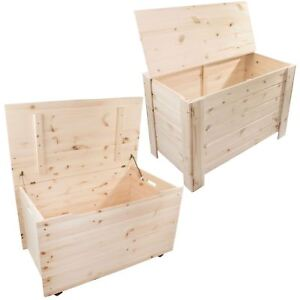 Wooden Storage Trunk Toy Box Chest / XL or XXLarge / Plain Unpainted Pine DIY