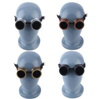 Retro Vintage Round Circle Steampunk Cyber Goggles Glasses Welding Punk Gothic