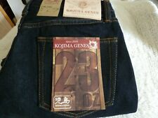 NEW JAPAN MADE KOJIMA JEANS GENES 38/33.5 Straight 23oz Motorcycle Jeans 1 Wash