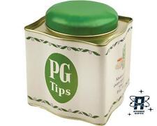 PG Tips Contenitore per tè cassetta Latta Retrò Vintage Opie cucina Storage bianco e verde Chimp