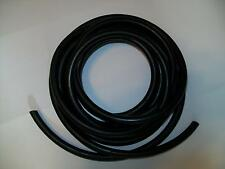 "10 Continuous Feet 1/8"" ID x 1/16 w x 1/4 OD Latex Rubber Tubing Black Surgical"