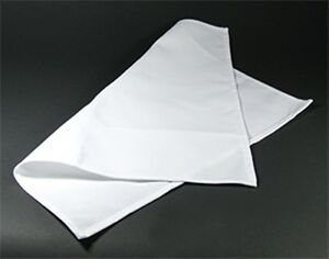 WHITE CREAM NAPKINS - TABLE LINEN - POLY COTTON - 4-PACK - MANY SIZES - BARGAIN!