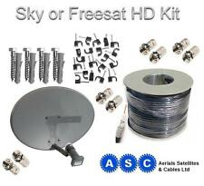 Freesat or SKY Kit, Dish,Quad LNB and 20m of Cable.