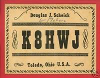 HAM RADIO OPERATOR SCHEICK 1959 TOLEDO OHIO OH POSTCARD