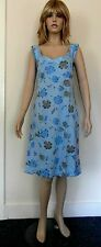 """NEW Pretty Lady Classics Blue Dress with Blue and Grey Florals Size S 34"""" BNWT"""