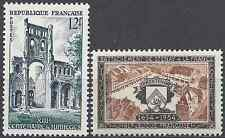 ABBAYE DE JUMIEGES N°985 + STENAY N°987 NEUF ** LUXE GOMME D'ORIGINE MNH