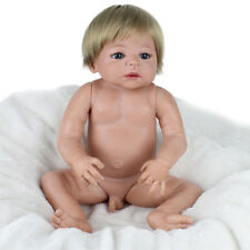 "22"" Hot Reborn Boy Doll Baby Life Like Realistic Full Silicone Vinyl Body Gift"