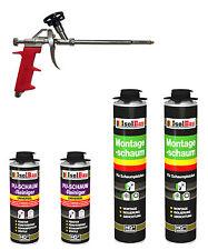 SET Pistolenschaum 2 x 750 ml +1 Metall Schaumpistole + 2 Reiniger Montageschaum