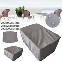 3 Size Grey Garden Yard Patio Table Covers Outdoor Furniture Shelter  UK UK  L9