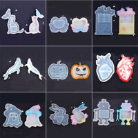 Crystal Pendant Rabbit UV Epoxy Resin Mould Jewelry Making Tools Silicone Mold