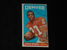 CHARLIE MITCHELL 1965 TOPPS SIGNED AUTOGRAPHED CARD #60 DENVER BRONCOS