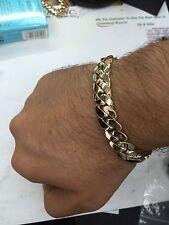 "Miami Cuban Link Chain Bracelet 14K Yellow Gold 9"" 89 g 11.4 mm"