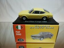 ATLAS 111 CLASSIC SPORTS CARS FIAT DINO - YELLOW 1:43 - EXCELLENT IN BOX