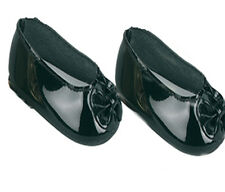 Black Patent Slip On Bow Dress Shoes Fits 18 inch American Girl Dolls