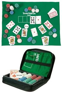 Poker Set King Travel Portable Fun Texas Hold Em Game In A Case Funtime