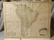 1740 Antique SOUTH AMERICA Map Robert de Vaugondy AMERIQUE