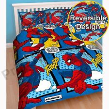 Marvel Ultimate Spiderman 100 Polyester Double Duvet Cover Bedding Set